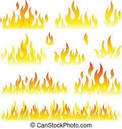 La colección de llamas está lista