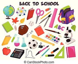 La colección de objetos de la escuela