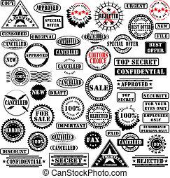 La colección de sellos de goma