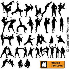 La colección de siluetas luchadoras