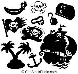 La colección de siluetas piratas