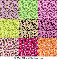 La colección de texturas de piel de leopardo
