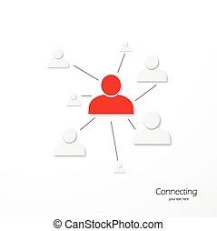 La conexión de la red de personas
