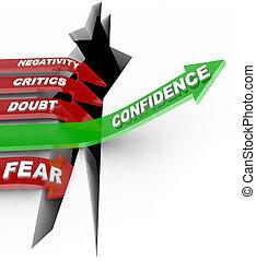 La confianza en ti mismo no escucha a la influencia negativa