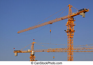 La construcción de un edificio de varios pisos