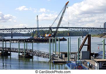 La construcción de un nuevo puente.