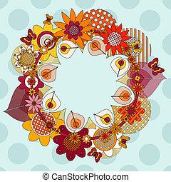 La corona de flores