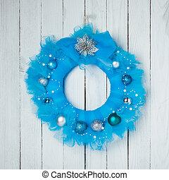 La corona de guipure de Navidad