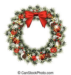 La corona de Navidad