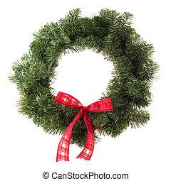 La corona de Navidad verde