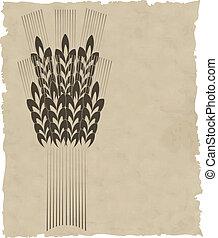 La corona de vectores en el viejo papel