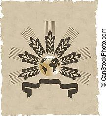 La corona del vector sobre papel viejo