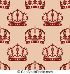 La corona real sin estructura de fondo