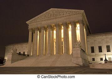 La Corte Suprema de EE.UU. por la noche