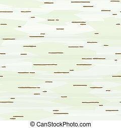 La corteza de Birch no tiene marcas
