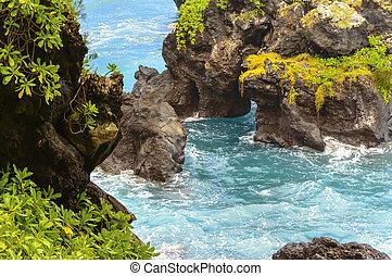 La costa de Maui