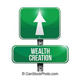 La creación de riqueza indica ilustraciones