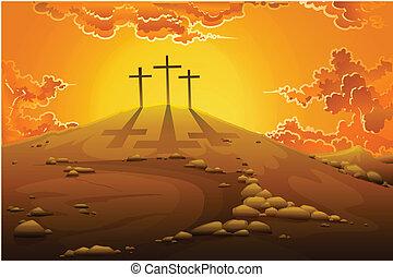 La crucifixión del calvario
