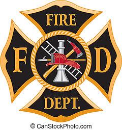 La cruz del departamento de bomberos
