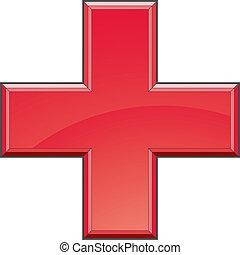 La cruz médica de primeros auxilios