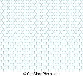 La cuadrícula Cyan Hexagon sin costura