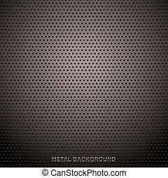 La cuadrícula de metal