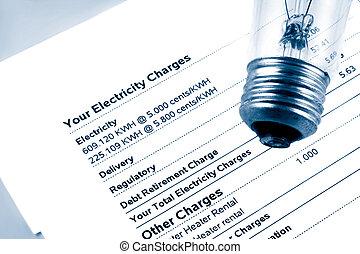 La cuenta de electricidad