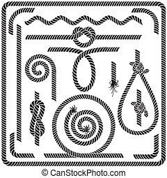 La cuerda del vector diseña elementos