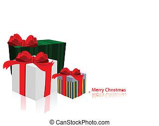 La decoración de Navidad. Caja