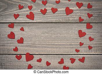 La decoración hecha a mano el día de San Valentín