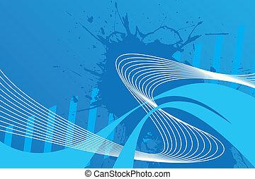 La distribución de cables ondulados