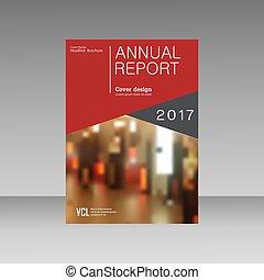 La distribución de vectores de negocios de Brochure, diseño de cobertura informe anual, revista, folleto o folleto con formas geométricas dinámicas