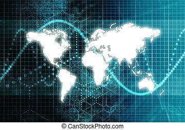 La economía mundial de la bolsa azul