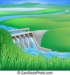 La energía hidroeléctrica ilustre