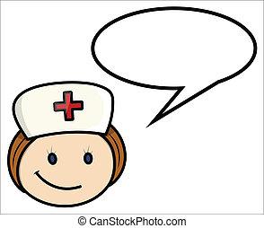 La enfermera dice... caricatura del vector