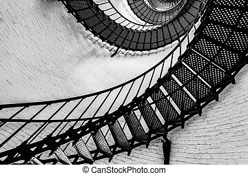 La escalera del faro St. Augustine
