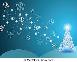 La escena de invierno de Navidad