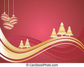 La escena de invierno y Navidad
