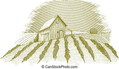 La escena de la granja