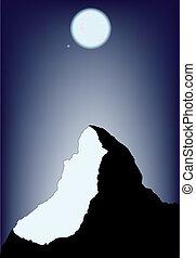 La escena de la montaña
