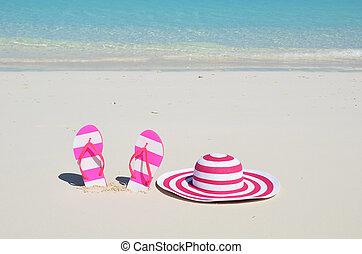 La escena de la playa