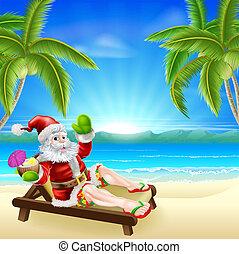 La escena de la Santa Navidad de verano