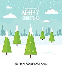 La escena de Navidad de invierno