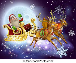 La escena de Navidad de Santa Claus