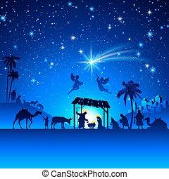La escena de Navidad de Vector