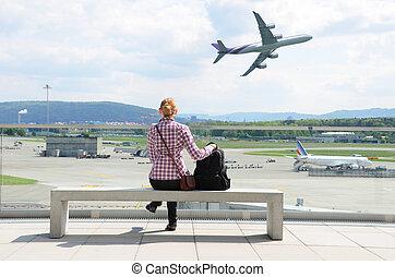 La escena del aeropuerto