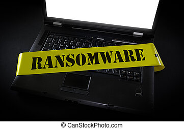 La escena del crimen de la computadora de Ramsomware