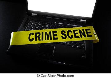 La escena del crimen de la computadora