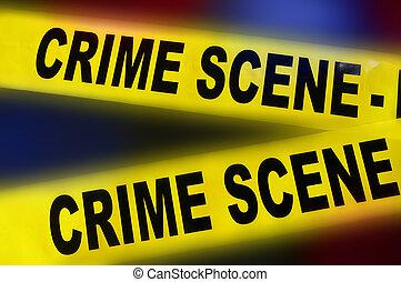 La escena del crimen de la policía