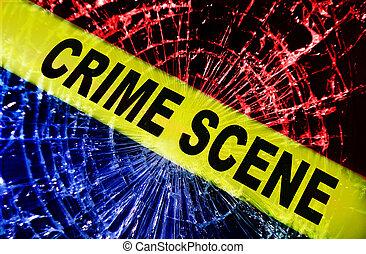 La escena del crimen de la ventana rota